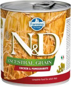 N&D Low Grain Dog konz. Adult Chicken &Pomegranate Mini 140 g