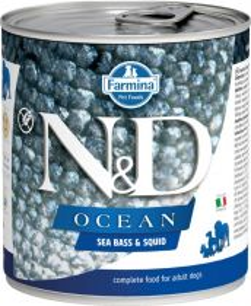 N&D OCEAN Dog konz. Adult Sea Bass & Squid 285 g