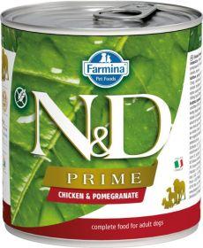 N&D PRIME Dog konz. Adult Chicken & Pomegranate 285 g