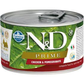 N&D PRIME Dog konz. Adult Chicken & Pomegranate Mini 140 g