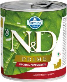 N&D PRIME Dog konz. Puppy Chicken & Pomegranate 285 g