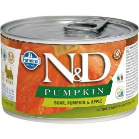 N&D PUMPKIN Dog konz. Adult Boar & Apple Mini 140 g