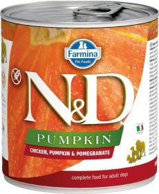 N&D PUMPKIN Dog konz. Adult Chicken & Pomegranate 285 g
