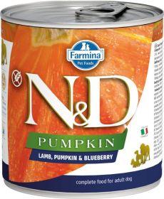 N&D PUMPKIN Dog konz. Adult Lamb & Blueberry 285 g