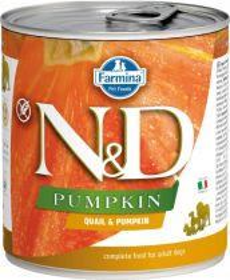 N&D PUMPKIN Dog konz. Adult Quail & Pumpkin 285 g