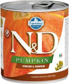 N&D PUMPKIN Dog konz. Adult Venison & Pumpkin 285 g