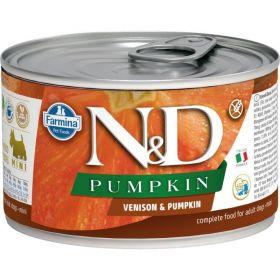 N&D PUMPKIN Dog konz. Adult Venison & Pumpkin Mini 140 g