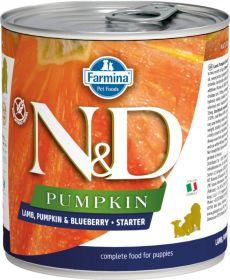 N&D PUMPKIN Dog konz. Starter Lamb & Blueberry 285 g