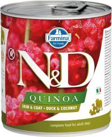 N&D QUINOA Dog konz. Duck & Coconut 285 g