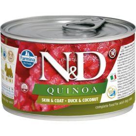 N&D QUINOA Dog konz. Duck & Coconut Mini 140 g