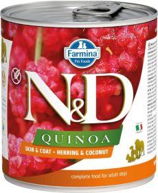 N&D QUINOA Dog konz. Herring & Coconut 285 g