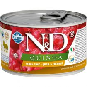N&D QUINOA Dog konz. Quail & Coconut Mini 140 g
