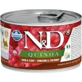 N&D QUINOA Dog konz. Venison & Coconut Mini 140 g