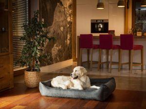 Pelíšek pro psa Economy - černý ekolen