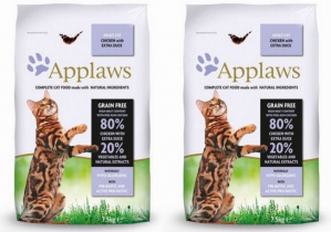 Applaws Cat Adult Chicken & Duck 2 x 7,5kg