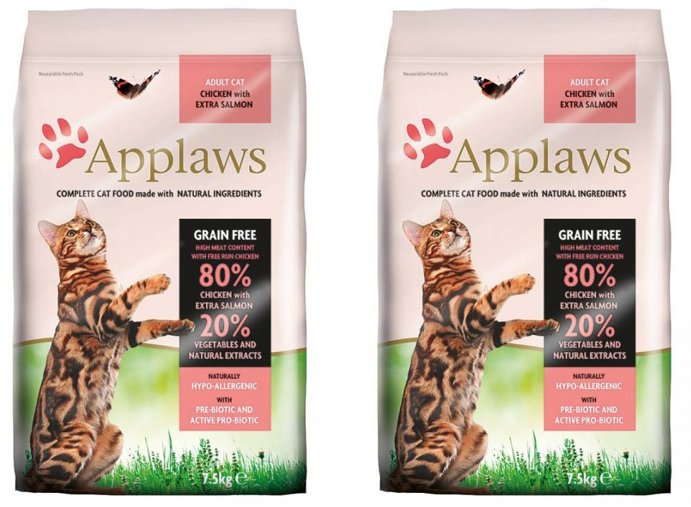 Applaws Cat Adult Chicken & Salmon 2 x 7,5kg