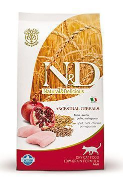 N&D Low Grain CAT Adult Chicken & Pomegranate 5kg