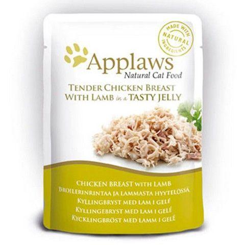 Applaws kapsička Cat JELLY 70g kuřecí prsa a JEHNĚČÍ v aspiku