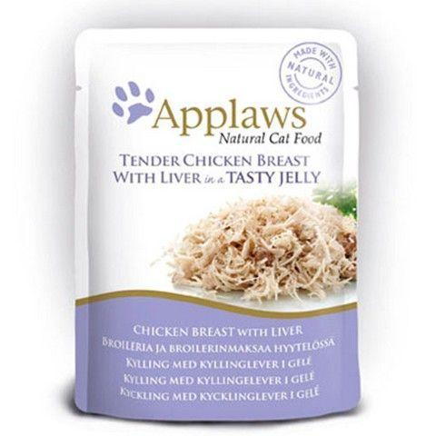 Applaws kapsička Cat JELLY 70g kuřecí prsa a kuřecí JÁTRA v aspiku