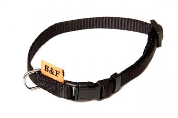 Obojek puppy nylon rozlišovací - černý 1,00 x 20-35 cm B&F