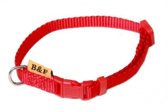 Obojek puppy nylon rozlišovací - červený 1,00 x 20-35 cm B&F