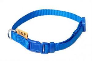 Obojek puppy nylon rozlišovací - modrý 1,00 x 20-35 cm