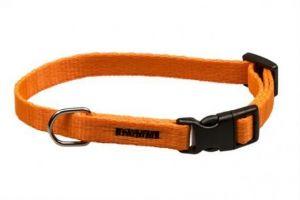 Obojek puppy nylon rozlišovací - oranžový 1,00 x 18-28 cm