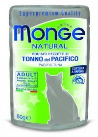 Monge Natural Cat pacifický tuňák - kapsička 80g