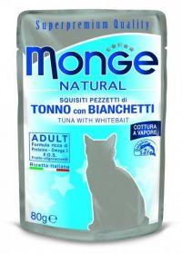 Monge Natural Cat tuňák a ančovičky - kapsička 80 g