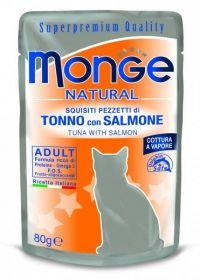 Monge Natural Cat tuňák losos - kapsička 80g
