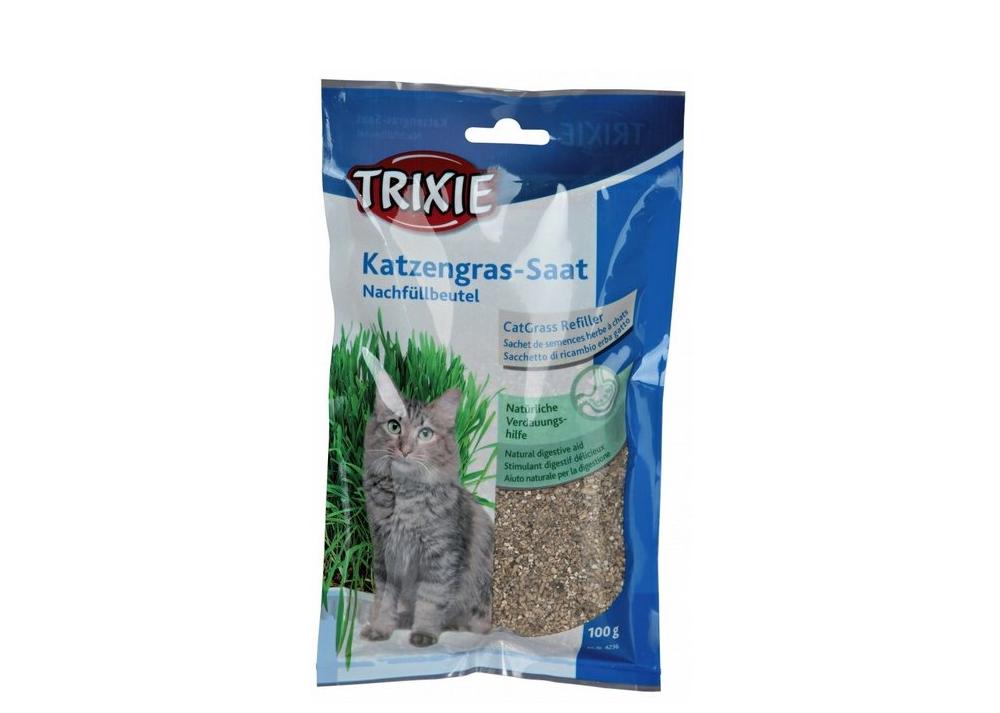 Tráva pro kočku v sáčku 100g TRIXIE
