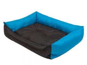 Pelíšek pro psa Economy - černý s modrou