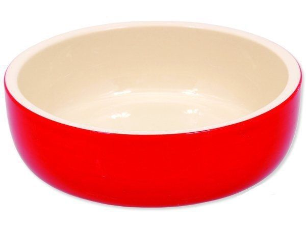 Keramická miska červená 14,5x4cm Plaček