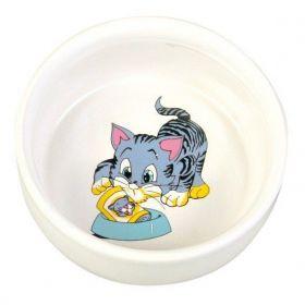 Keramická miska malovaná, motiv kočka 300ml/11cm