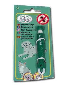 Kleště na klíšťata plast zelené Kerbl závěs.karta 1ks Ketris