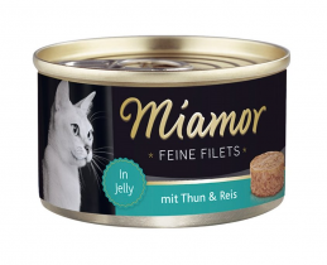 Miamor Feine Filets s tuňákem a rýží v želé 100g