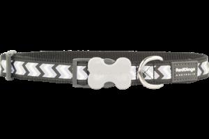 Obojek reflexní Red Dingo Ziggy 20 mm x 30-47 cm - černá