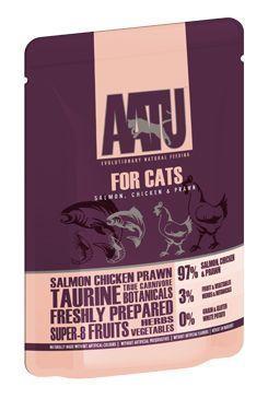 AATU Cat Salmon & Chicken & Prawn kapsička 85g