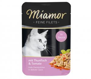 Miamor Cat Filet kapsa tuňák+rajče ve šťávě 100g