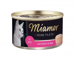 Miamor Feine Filets s kuřetem a rýží v želé 100g