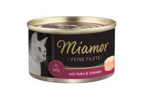 Miamor Feine Filets s kuřetem a šunkou v želé 100g