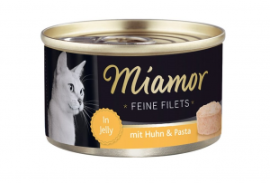 Miamor Feine Filets s kuřetem a těstovinami v želé 100g