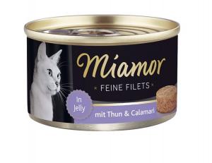 Miamor Feine Filets s tuňákem a kalamáry v želé 100g