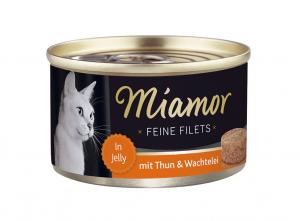 Miamor Feine Filets s tuňákem a křepelčími vejci v želé 100g