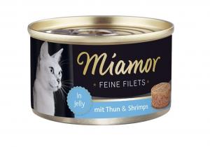 Miamor Feine Filets s tuňákem a krevetami v želé 100g