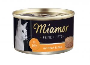 Miamor Feine Filets s tuňákem a sýrem v želé 100g