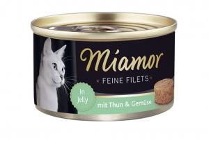 Miamor Feine Filets s tuňákem a zeleninou v želé 100g