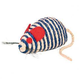 Myš sisal s kuličkami 10cm TR 1ks