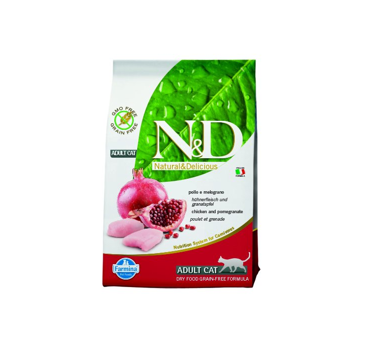 N&D Grain Free CAT Adult Chicken & Pomegranate 300g