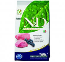 N&D Grain Free CAT Adult Lamb & Blueberry 1,5kg